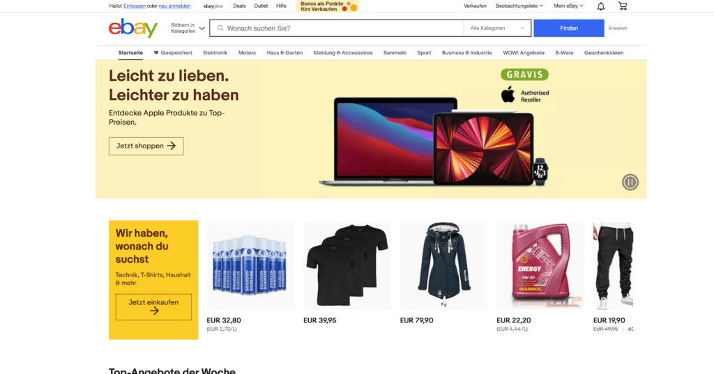Sachen von Entrümpelung bei Ebay verkaufen